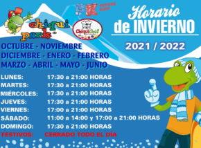 Horario Chiquipark Cádiz 2021